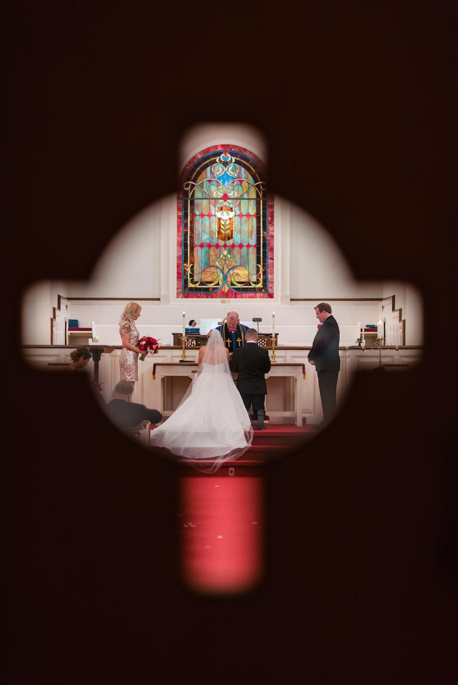 Bride and Groom Wedding Portrait at Tampa Wedding Ceremony Venue Hyde Park Presbyterian Church | | Tampa Wedding Photographer Kera Photography