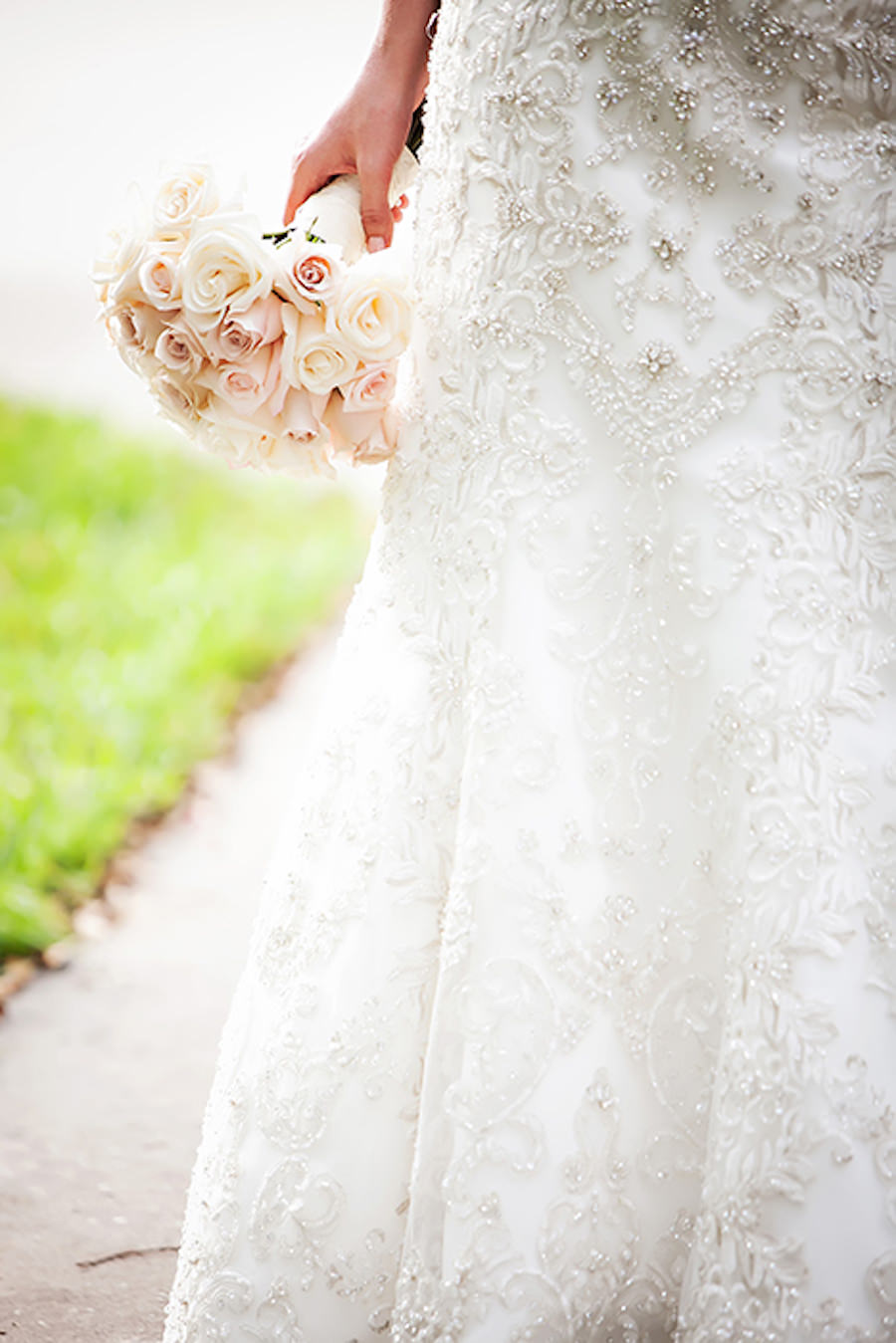 Allure Couture Wedding Dress With Embroided Beaded Detail With