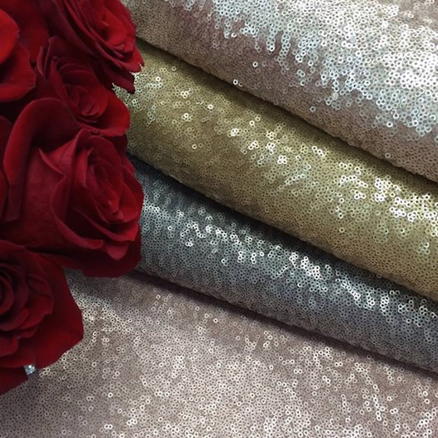 Tampa Wedding Linen Rentals from Over the Top Rental Linens| Matte Sequin Wedding Linens