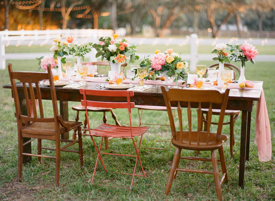Tampa Bay Citrus Inspired Vintage Styled Wedding Shoot