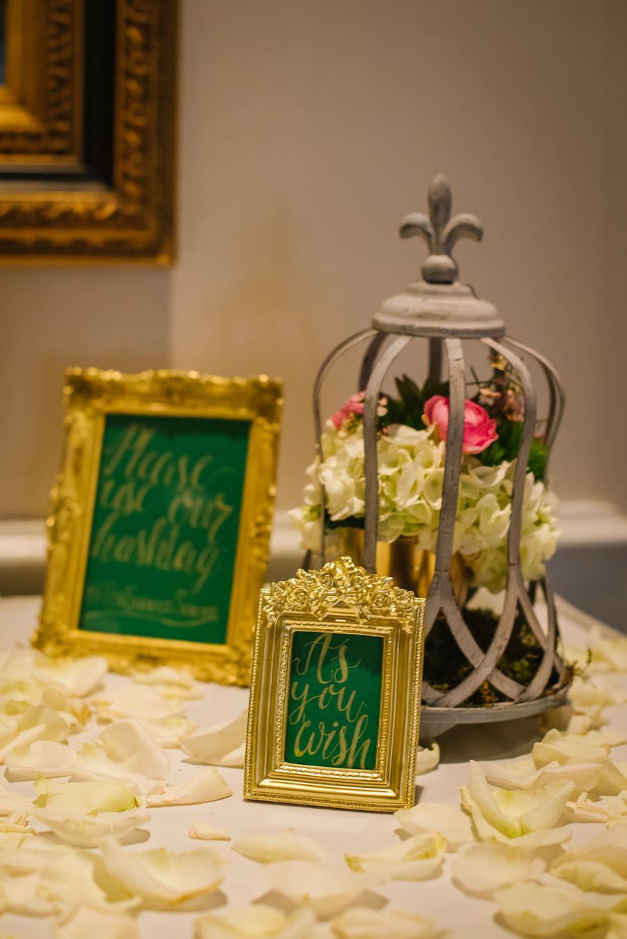 Rose Petal Wedding Guest Book | Garden Theme Wedding Ideas and Inspiration