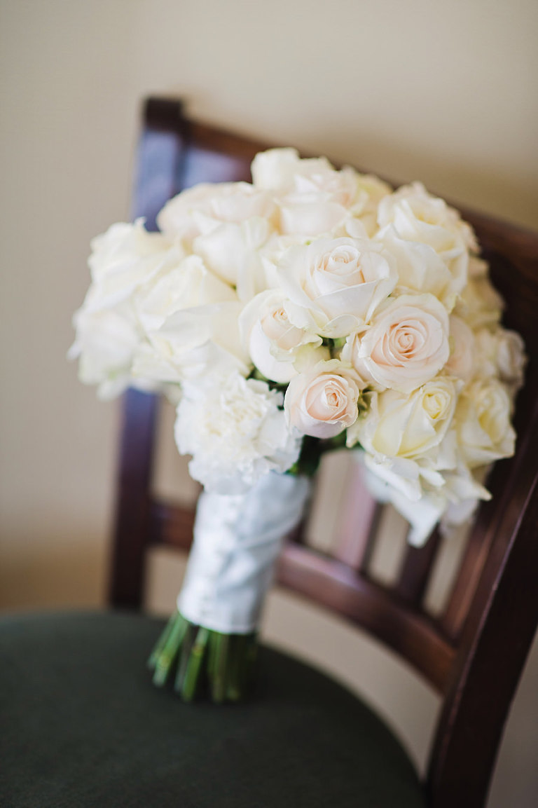 White and Ivory Floral Bridal Wedding Bouquet | Tampa Wedding Photographer Marc Edwards Photographs