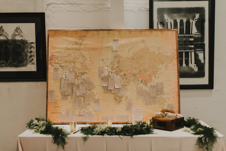 Wedding Reception Guest Sign in Table with Antique Map and Guest Note Cards   Guest Book Alternatives, Unique Wedding Ideas