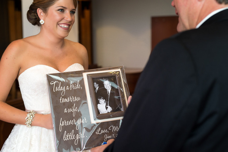 Father/ Daughter Wedding Day First Look and Gift Exchange Portrait | Tampa Bay Wedding Photographer Jeff Mason Photography