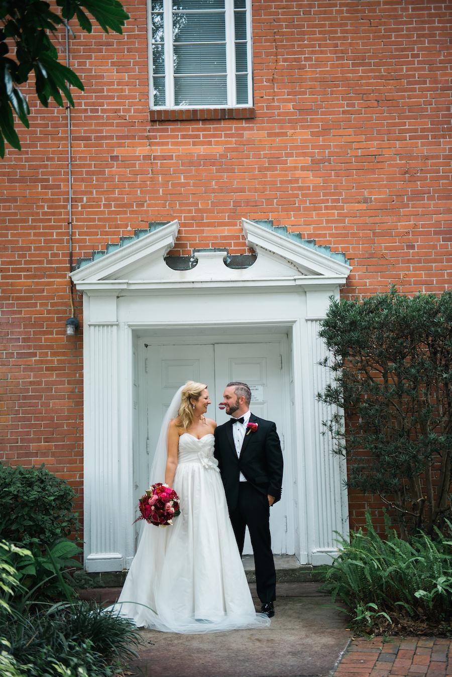 Bride and Groom Outdoor Wedding Portrait | Tampa Wedding Photographer Kera Photography