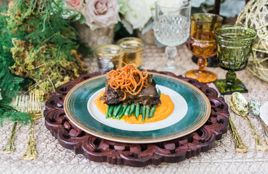 Plated Wedding Short Rib Dinner | Tampa Bay Wedding Caterer Olympia Catering