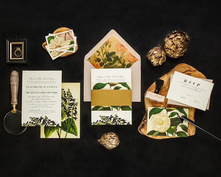 Summer Botanical Wedding Invitation Trends by Tampa Wedding Invitation Designer Citrus Press Co