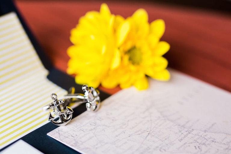Wedding Jewelry: Anchor Cufflinks | Nautical Inspired Wedding Details