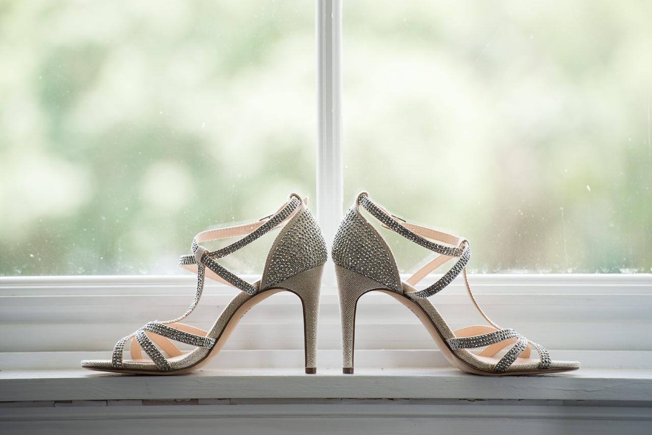 Silver, Studded Rhinestone Bridal Wedding Shoes