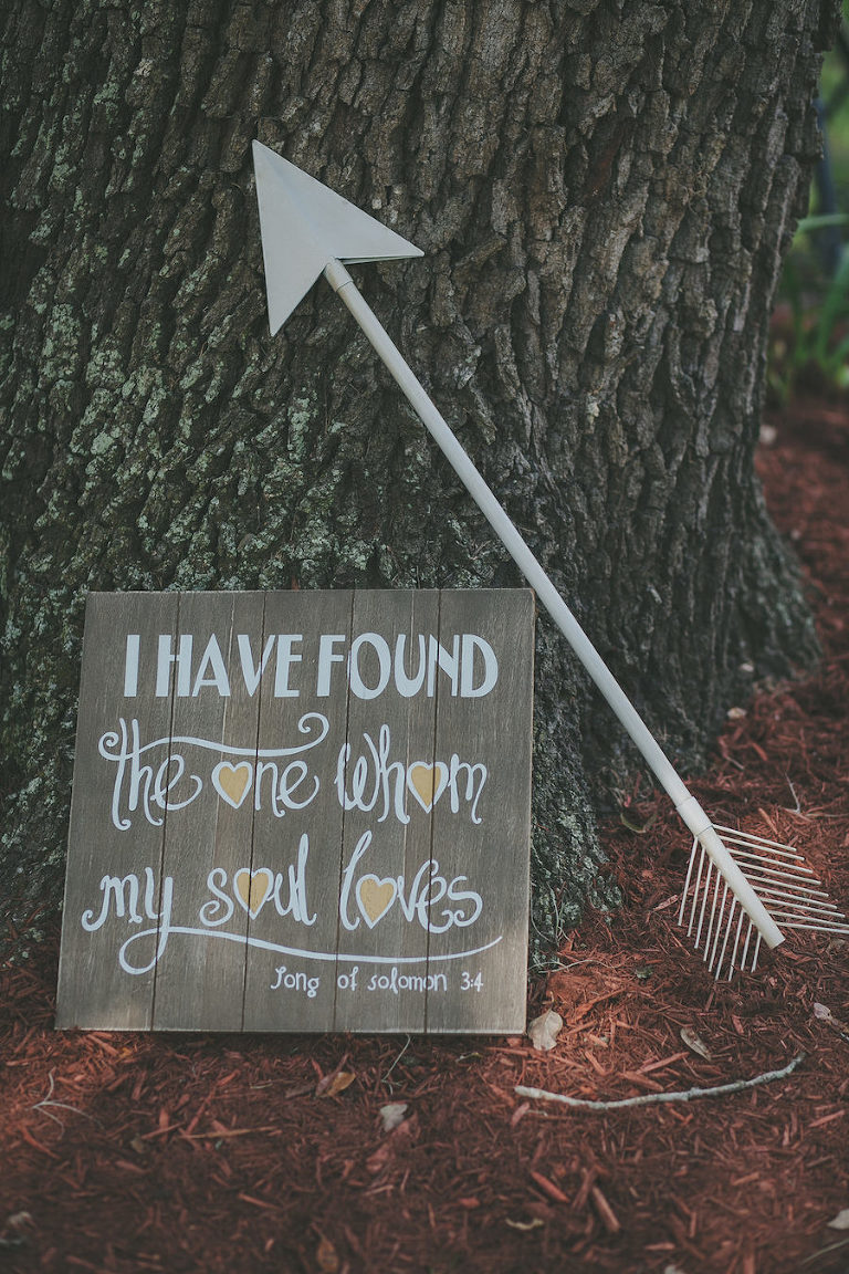 I Have Found the One Whom My Soul Loves Wooden Wedding Ceremony Sign