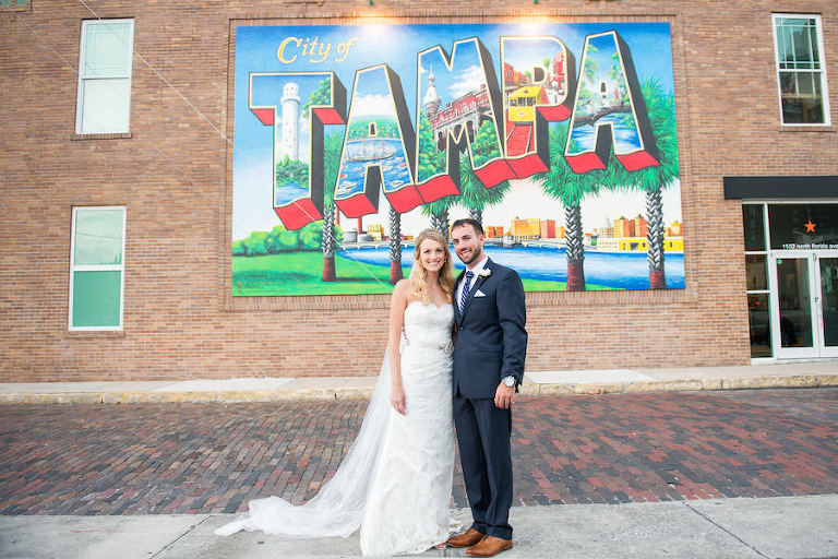 Elegant vintage downtown tampa wedding the vault for City of tampa mural
