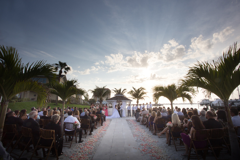 Outdoor Wedding Ceremony at St. Petersburg Wedding Venue Isla Del Sol Yacht and Country Club
