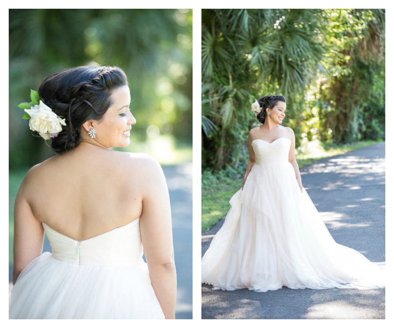 Modern vintage emerald green black blush styled tampa for Wedding dresses tampa bay area