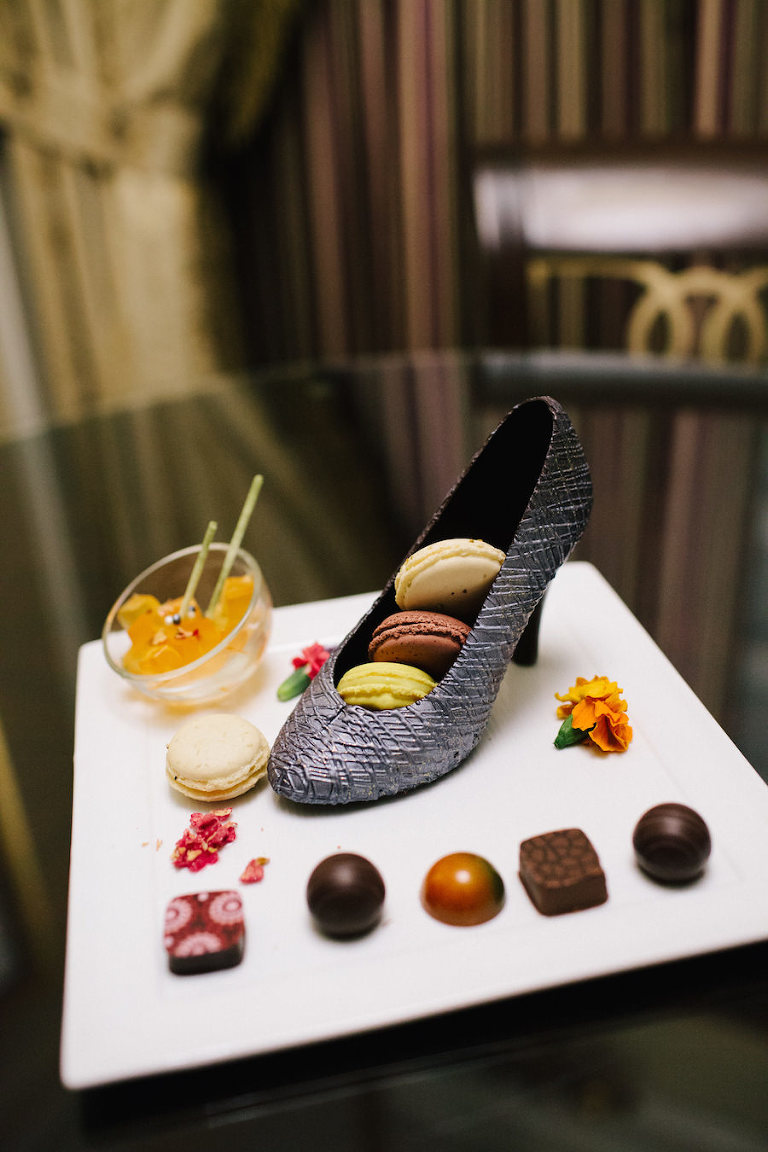 Venetian Las Vegas Hotel Room Review for Girls' Bachelorette Party Wedding Weekend Chocolate Shoe Welcome Gift