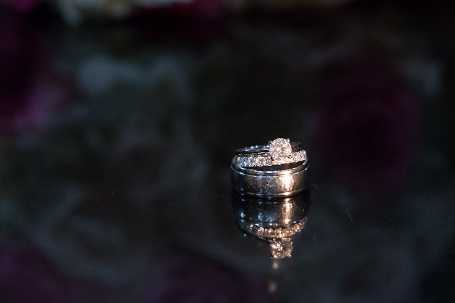 Bride and Groom Wedding Band and Engagement Ring Portrait | St. Pete Wedding Photographer Jeff Mason Photography