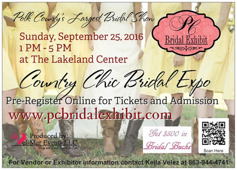 Polk County Bridal Show, PC Bridal Exhibit September 25, 2016