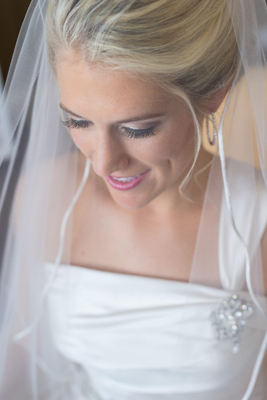 Bridal Wedding Portrait in Ivory Allure Wedding Dress and Veil | St. Petersburg Wedding Photographer Jeff Mason Photography