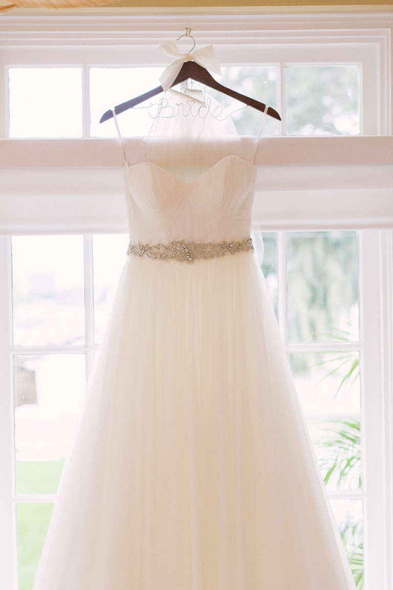 Strapless, Sweetheart White Wedding Dress with Crystal, Rhinestone Sash