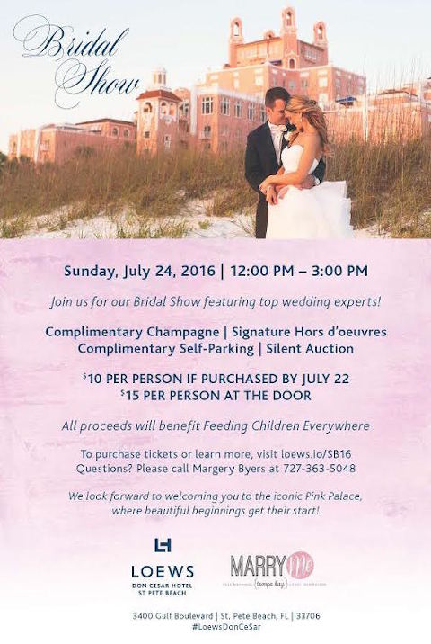 St. Pete Beach Bridal Show at Loews Don Cesar Hotel, July 24, 2016