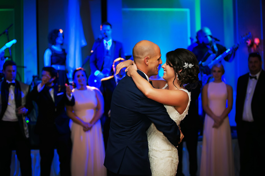 Wedding Reception Bride and Groom First Dance | Tampa Wedding Photographer Limelight Photography