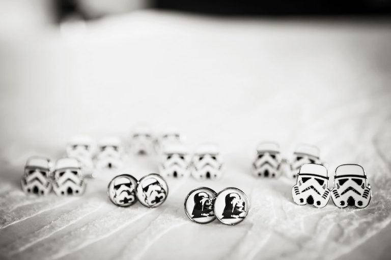Grooms Wedding Accessories: Groom and Groomsmen Starwars Cufflinks