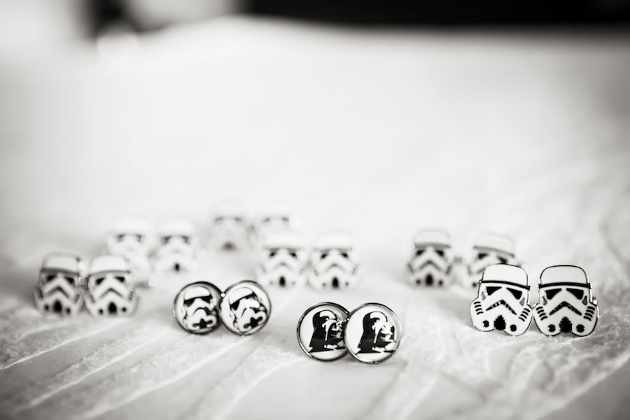 Grooms Wedding Accessories: Groom and Groomsmen Starwars Cufflinks