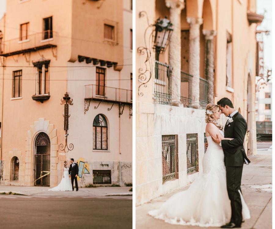 Bride and Groom Outdoor St. Petersburg Wedding Portrait | Wedding Hair and Makeup Artist Michele Renee The Studio