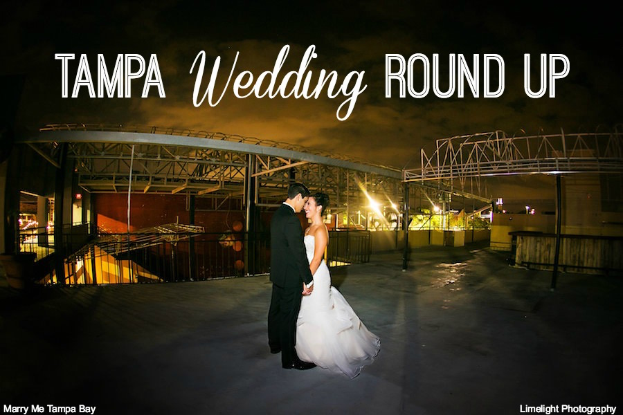Outdoor, Nighttime Bride and Groom Wedding Portrait |Tampa Wedding Photographer Limelight Photography