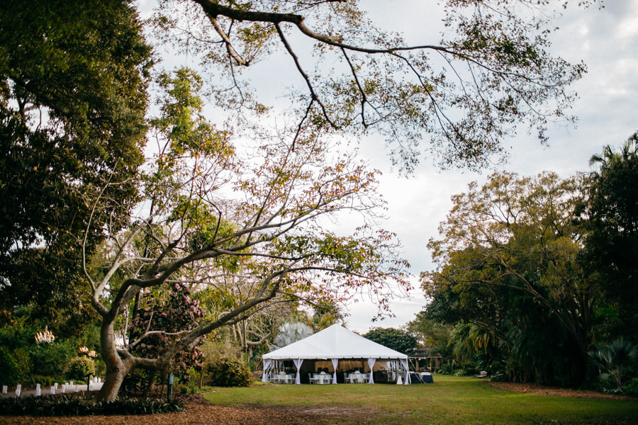 Outdoor Tented Wedding Reception | Sarasota Wedding Venue Marie Selby Gardens