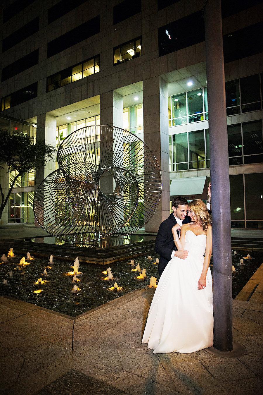 Bride and Groom Wedding Portrait Inside Downtown Tampa Wedding Venue The Tampa Club   Tampa Wedding Photographer Limelight Photography