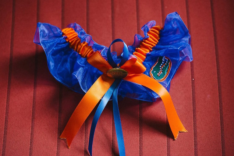 Florida Gators Wedding Garter with Bow Detail