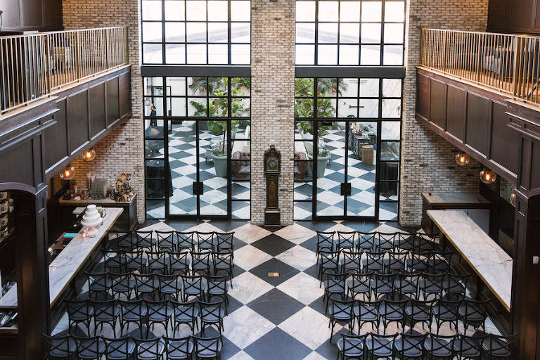 Elegant Black And White South Tampa Wedding Oxford Exchange Laura Steven S Featured A Clic Style