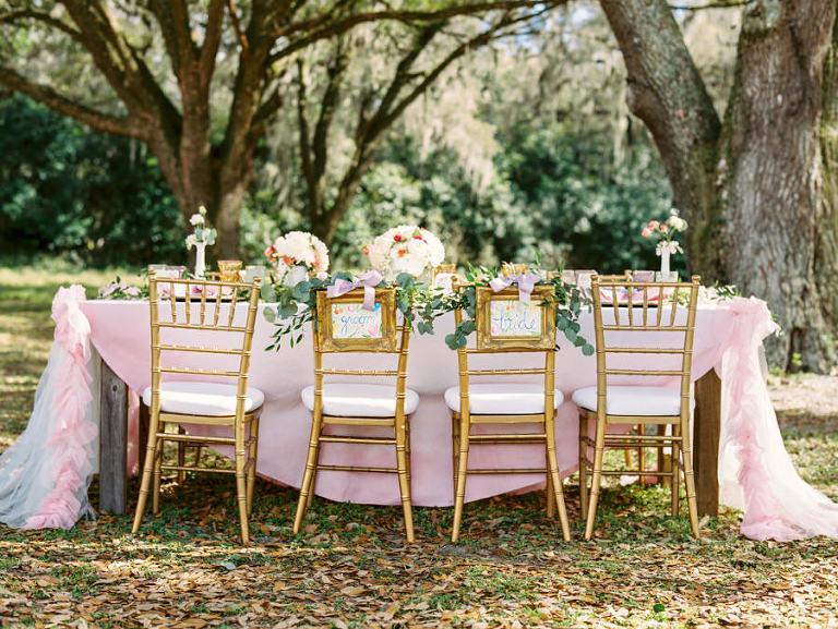 Vintage Watercolor Inspired Styled Tampa Bay Wedding Shoot