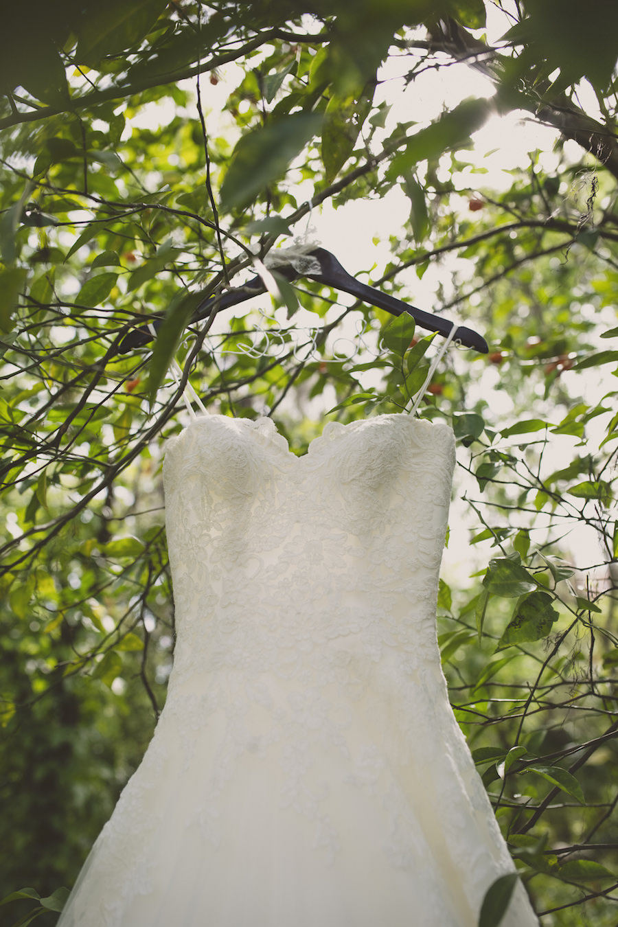 Strapless Sweetheart Lace Wedding Gown By Allure Bridals