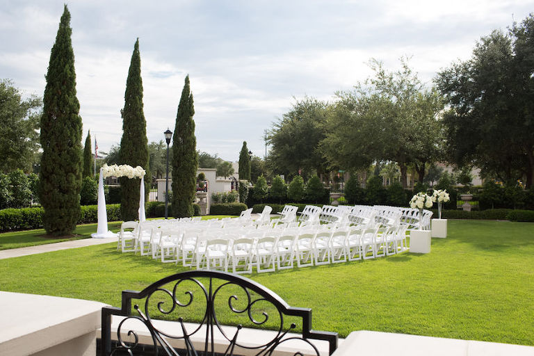 Tampa Bay Outdoor Garden Wedding Ceremony Venue The Palmetto Club | Jeff Mason Photography