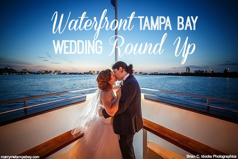Real Tampa Bay Waterfront Wedding Venue Inspiration | Clearwater Waterfront Wedding Venue Yacht Sensation