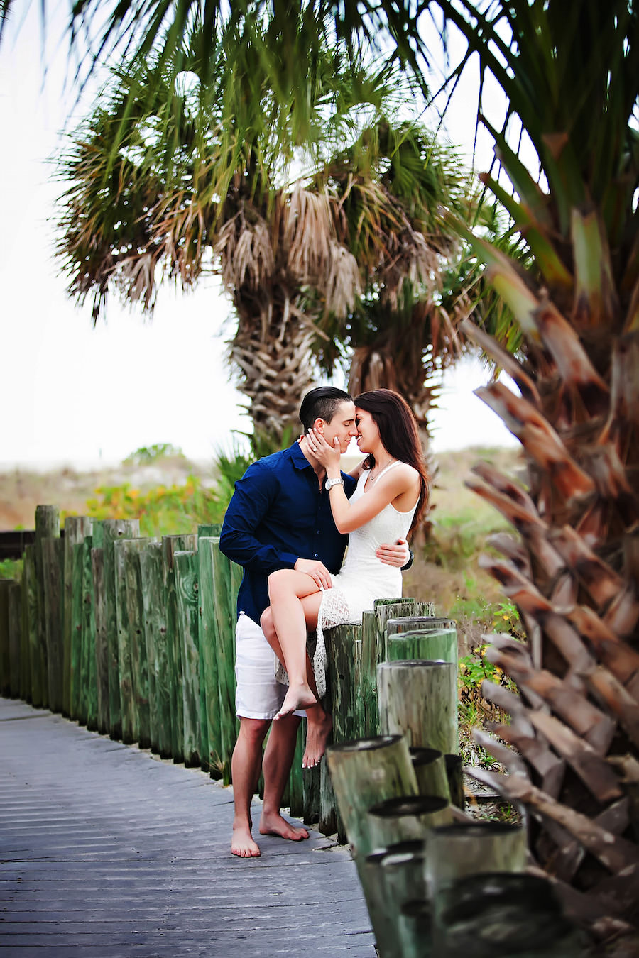 Outdoor, Waterfront Clearwater Sand Key Park Engagement Session   Clearwater Wedding Photographer Limelight Photography