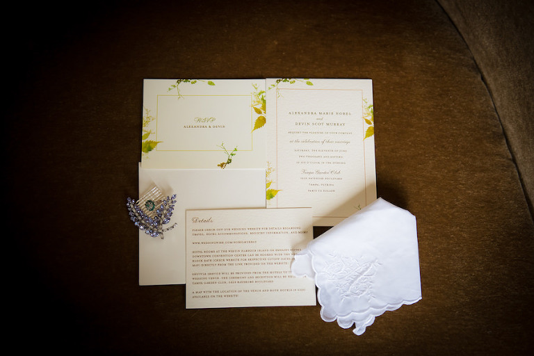 Garden Theme Wedding Invitation Suite | South Tampa Wedding Photographer Kera Photography