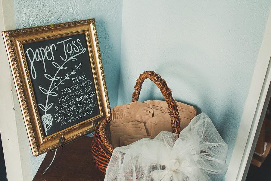 Eco Friendly Paper Toss Wedding Ceremony Exit Idea