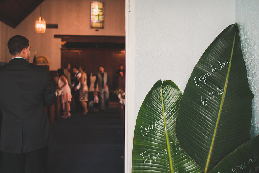 Green Eco Friendly Wedding Ceremony Venue Sign Amazing Ministries Tampa Florida