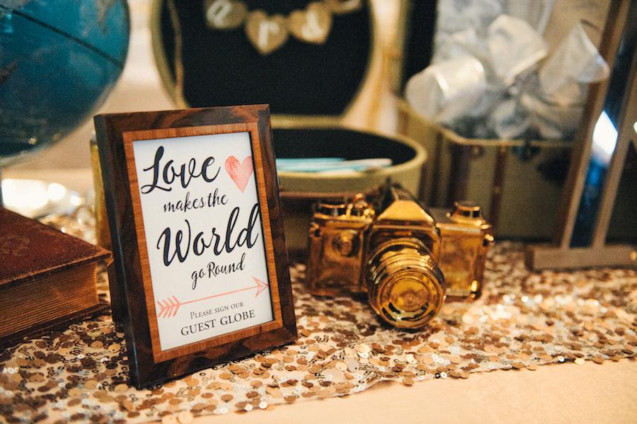 Unique Wedding Guest Book Ideas Globe   Travel Themed Wedding Inspiration