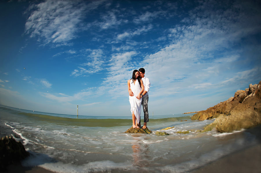 Outdoor, Waterfront Clearwater Beach Engagement Session   Clearwater Wedding Photographer Limelight Photography