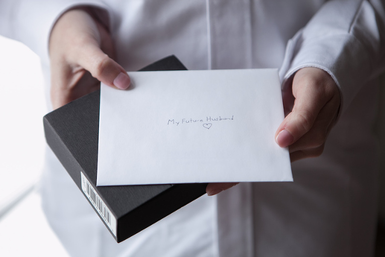 Bride's Letter to Groom on Wedding Day