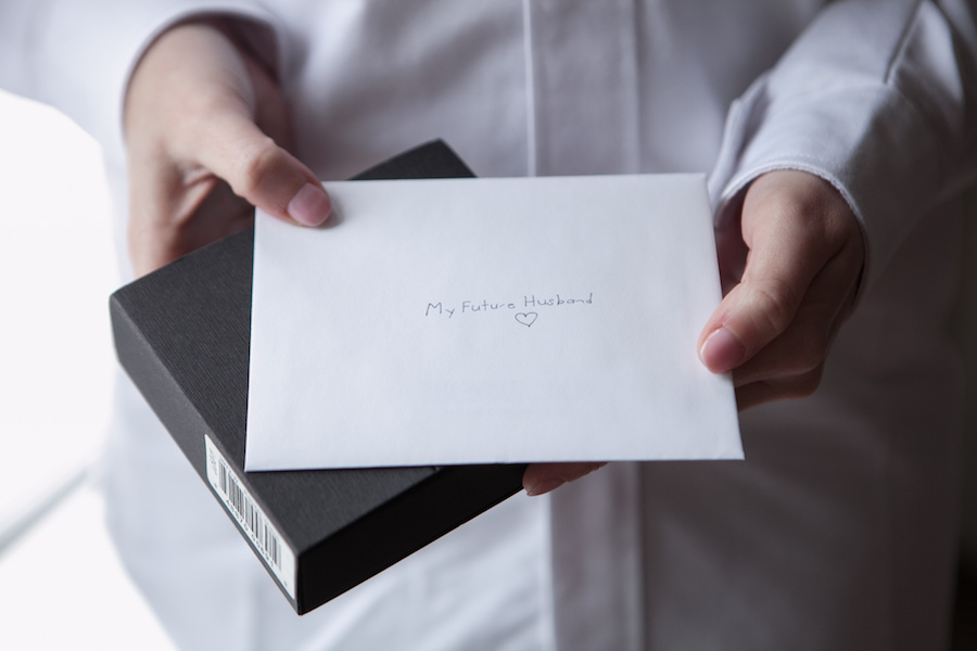 brides letter to groom on wedding day