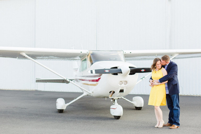 Airport, Travel Inspired Engagement Session with Airplane | Lakeland Wedding and Engagement Photographer Ailyn La Torre Photography