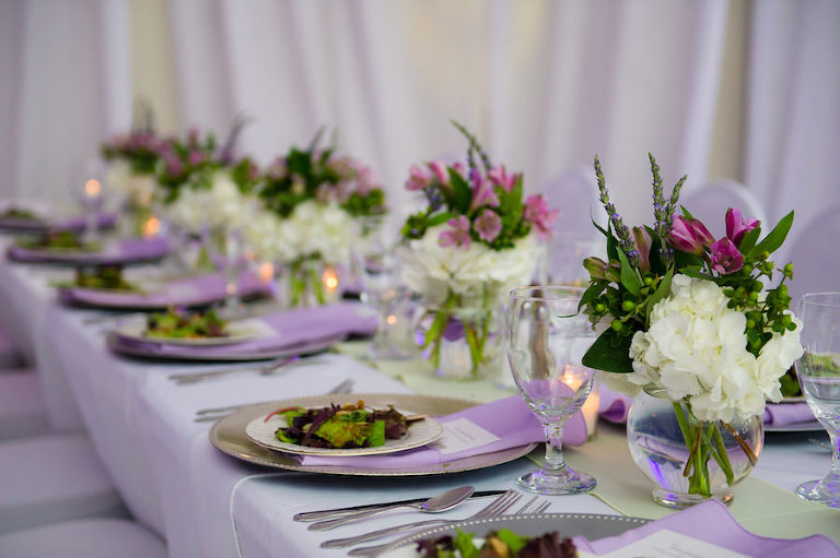 Green lavender tampa wedding garden club