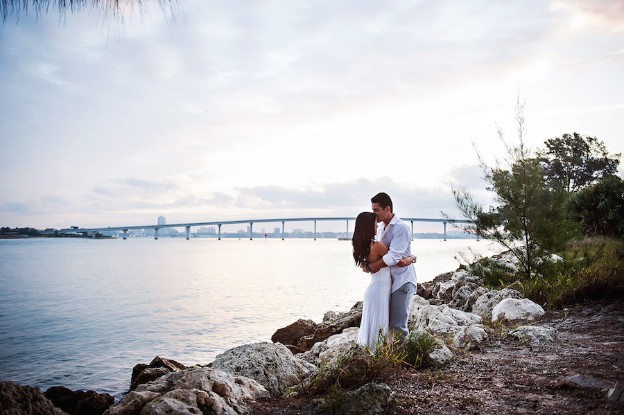 Outdoor, Waterfront Tampa Engagement Session   Tampa Engagement Photographer Limelight Photography