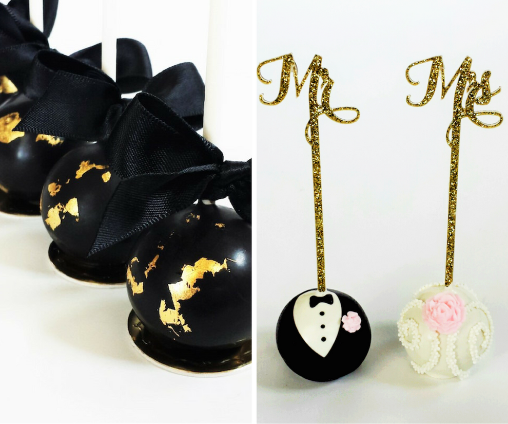 Formal Tuxedo and Wedding Dress Cake Pops   Tampa Wedding Cake Pop Baker Sweetly Dipped Confections