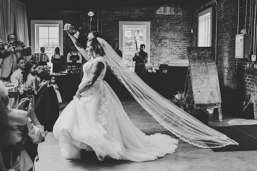 Bride and Groom Wedding Reception Entrance | Historic Tampa Ybor City Wedding Venue CL Space