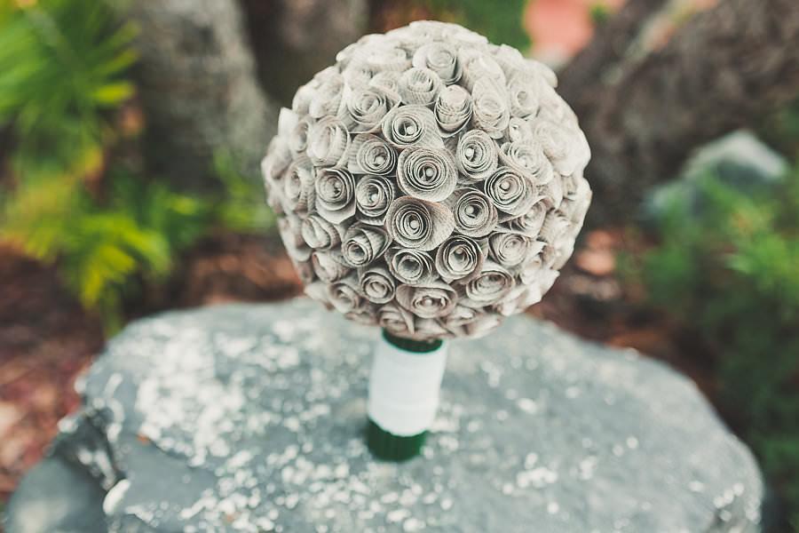 Paper Flower Handmade Wedding Bouquet